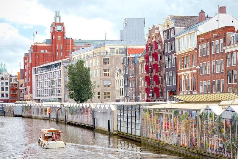 Bloemenmarkt - Amsterdam Çiçek Pazarı Amsterdam Gezilecek Yerler