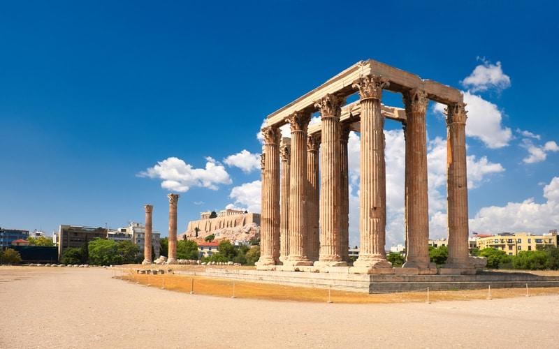 Olimpos Zeus Tapınağı - Atina da Gezilecek Yerler