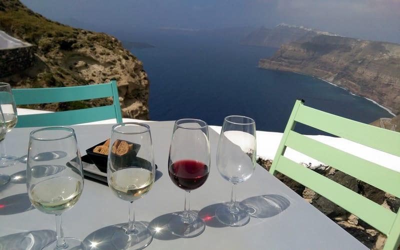 Santorini Şarap Turu Yapın