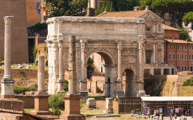 Roma Forumu - Septimius Severus Kemeri