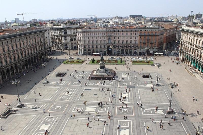 Milano Katedrali Çatısı manzarası
