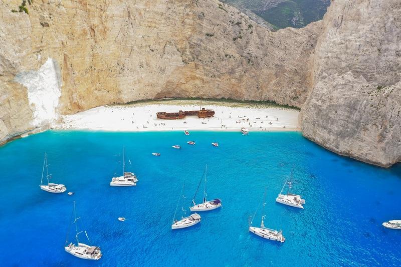 Zayknthos Gezilecek Yerler - Navagio Plajı (Shipwreck Plajı)