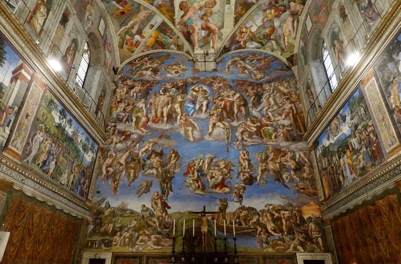 Sistina Şapeli Freskleri Michelangelo